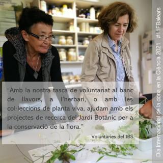 Aquests dies, celebrant el #DiaInternacionaldelaDonailaNinaenlaCiència, vos presentarem a l'equip de dones que fa possible la tasca de la nostra institució, reivindicant així el paper de la dona en la ciència i la tecnologia. #DiadelaMujerylaNiñaenlaCiencia #11FBalears #DiaInternacionaldelaDonailaNinaenlaCiència #BOTANICSOLLER #DiaDonaiNinaenCiència #11F2021 #DonesSTEM #DonaiCiència #11FBalears